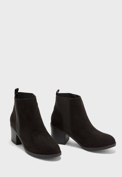 Wide Fit Suedette Chelsea Boots