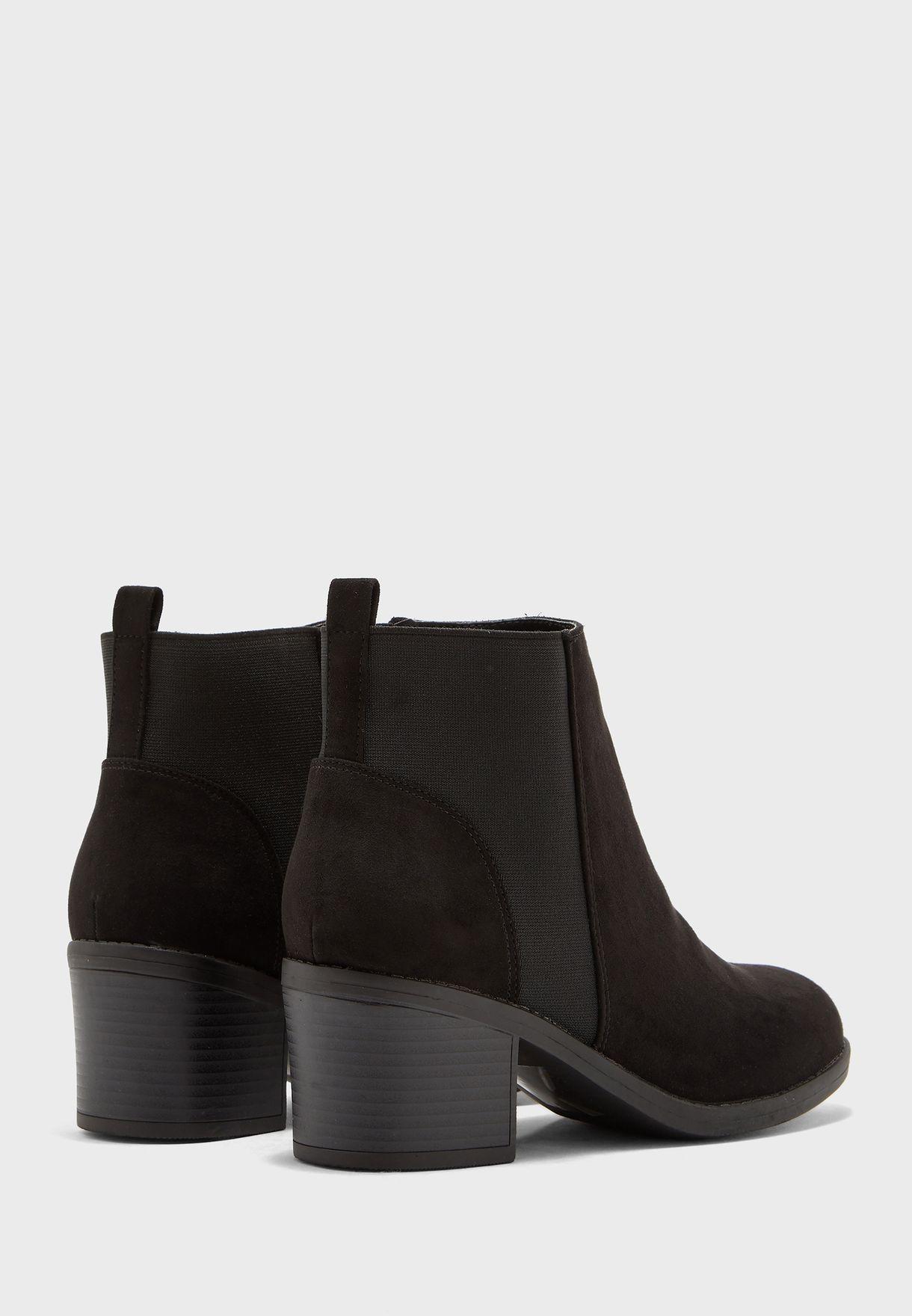 Wide Fit Suedette Chelsea Boots