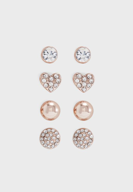 Multipack Rhinestone Stud Earrings