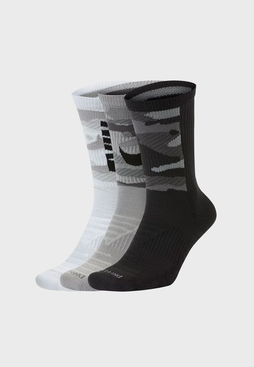 3 Pack Cushion Camo Crew Socks