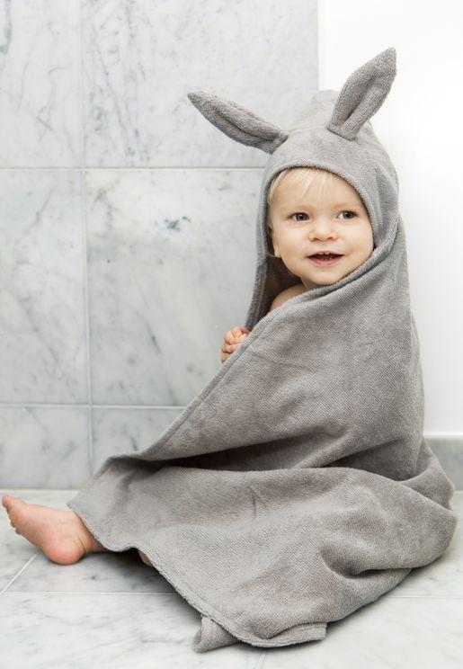 Marble Grey Hooded Bunny Towel