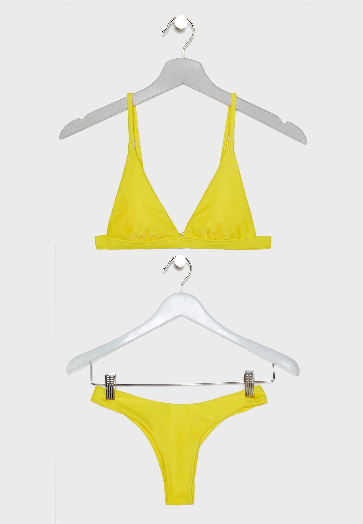 ea97fedb5943d Shop Coconut Cove yellow Triangle High Leg Bikini Set CO255 for Women in  Bahrain - 17768AT46OGP