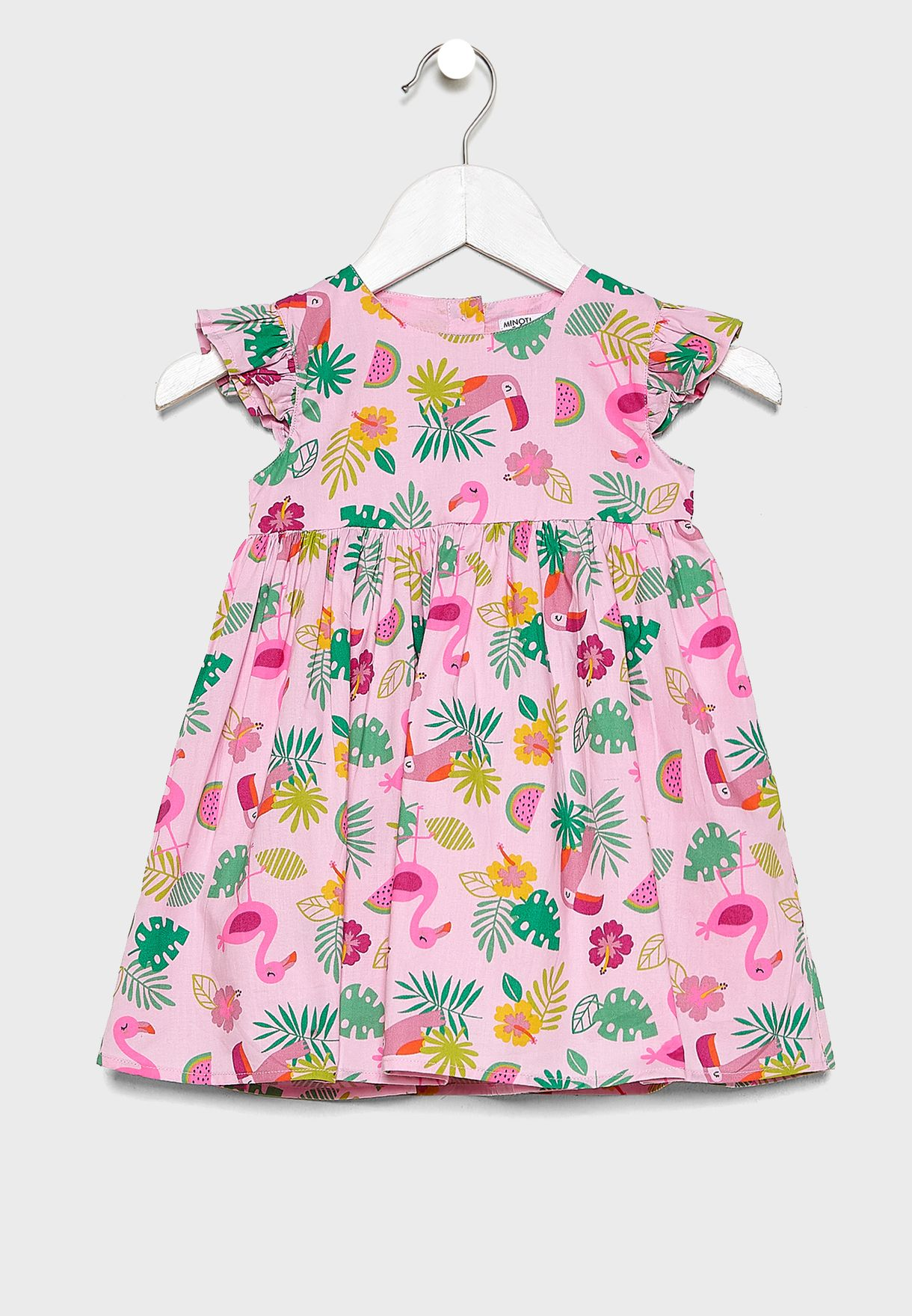 Infant Tropical Print Dress