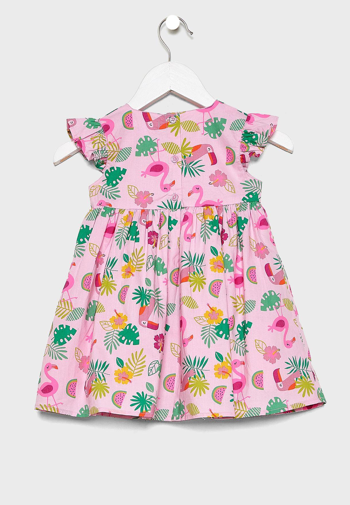 فستان بطبعات استوائية للبيبي