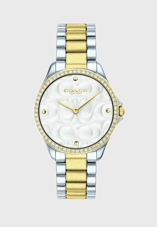 14503073 Steel Strap Analog Watch