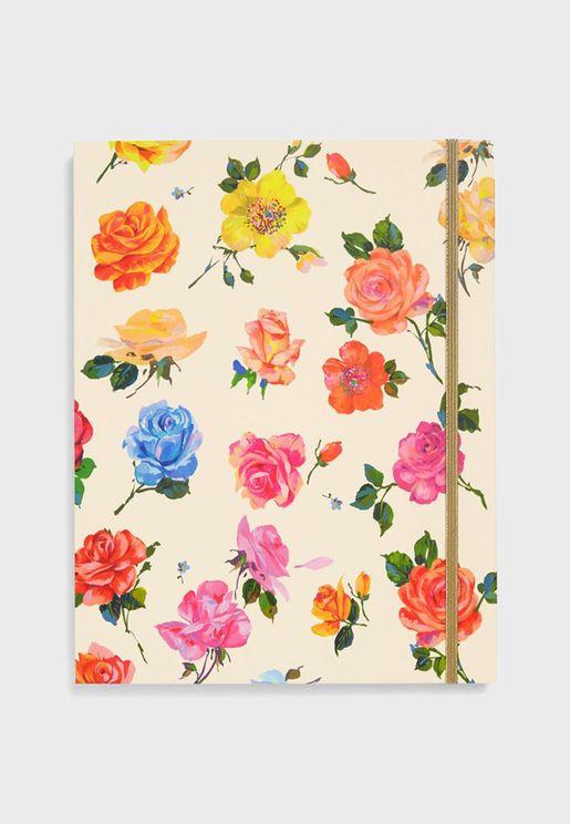 مجلد حفظ الملفات بطباعة زهور
