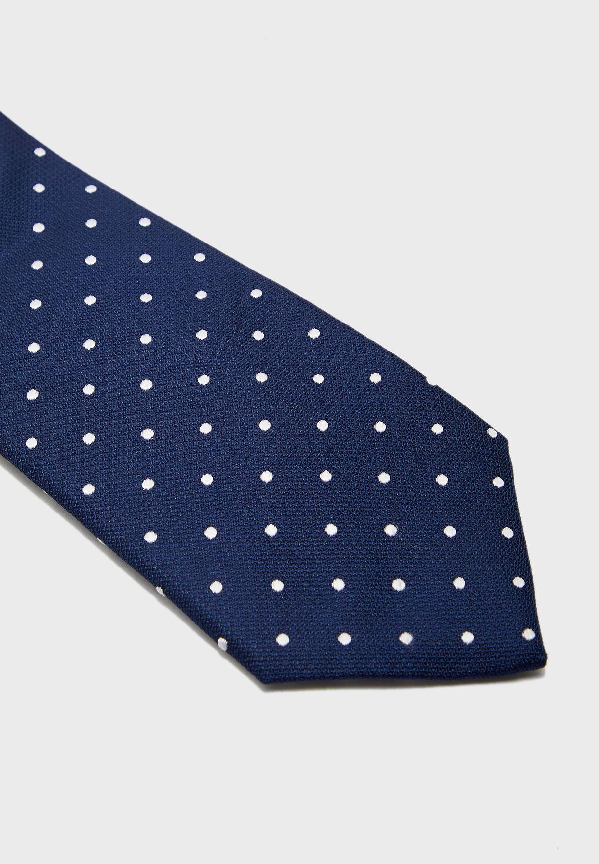 Textured Satin Spot Tie