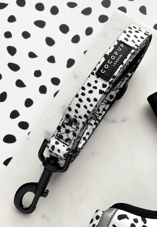 Monochrome Spot Print Dog Lead