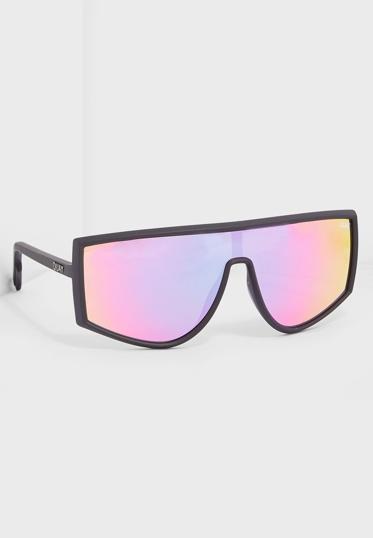 319ca738f5 Shop Quay Australia black Cosmic Sunglasses QW-000488-BLK PURPNK for ...