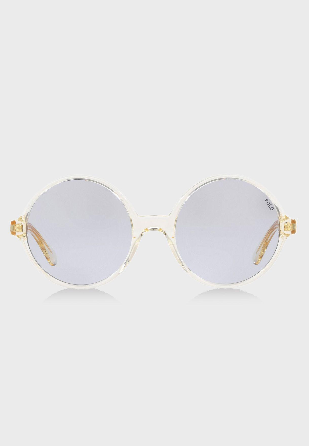 ccb1cf640bd Shop Polo Ralph Lauren clear Round Sunglasses 8.05E+12 for Women in Kuwait  - 13320AC56VDP