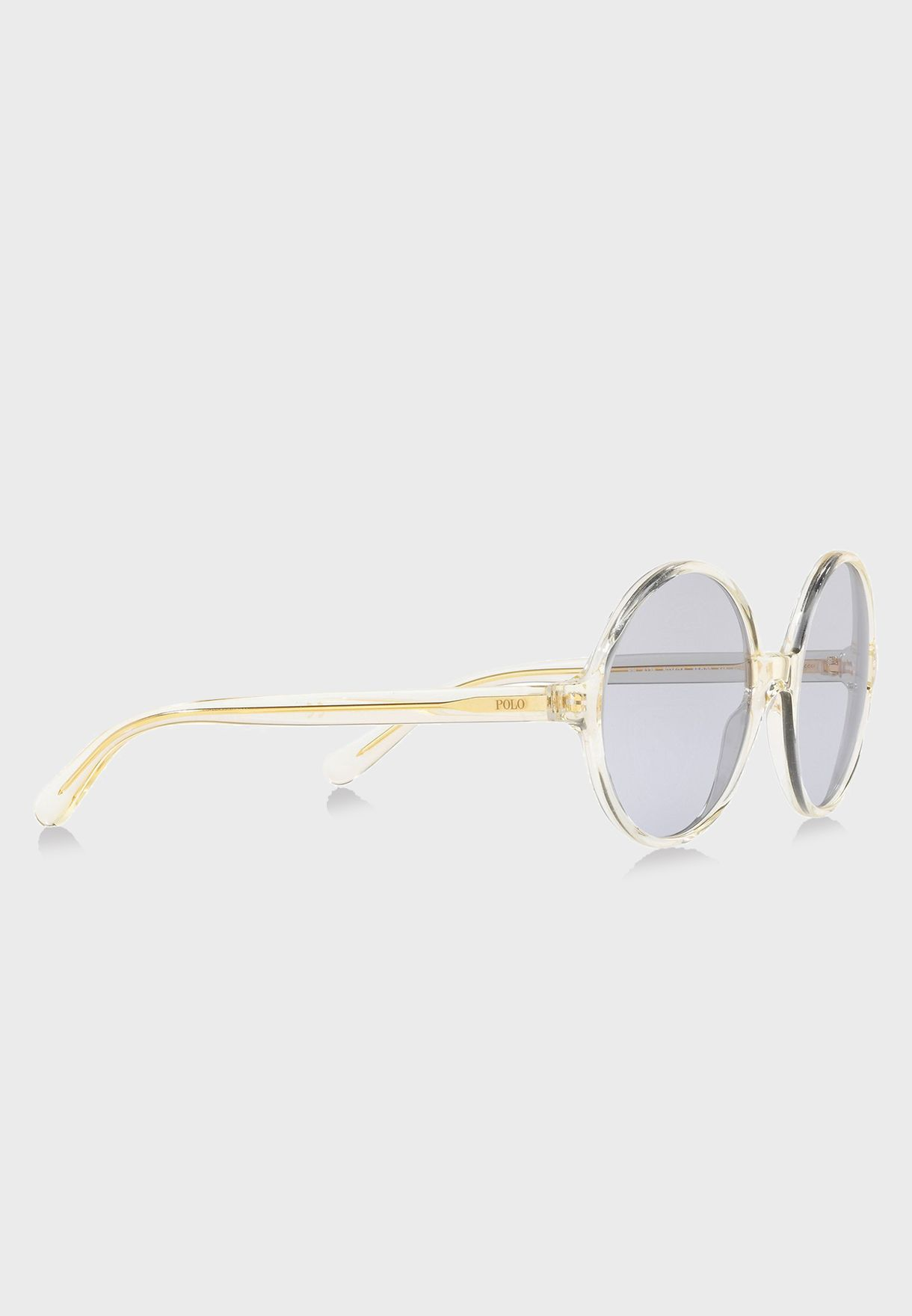 748000abce1 Shop Polo Ralph Lauren clear Round Sunglasses 8.05E+12 for ...