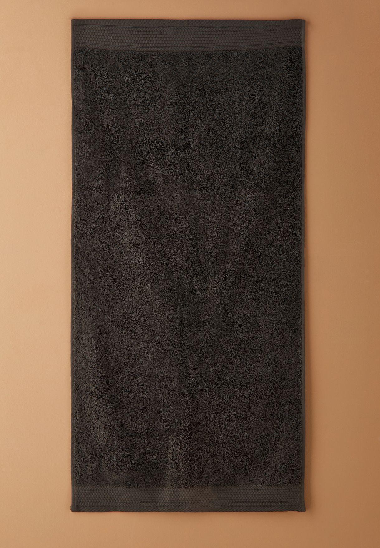 Dark Grey Bath Towel 50 X 110cm