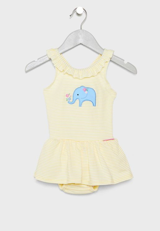 Infant Elephant Graphic Swimsuit