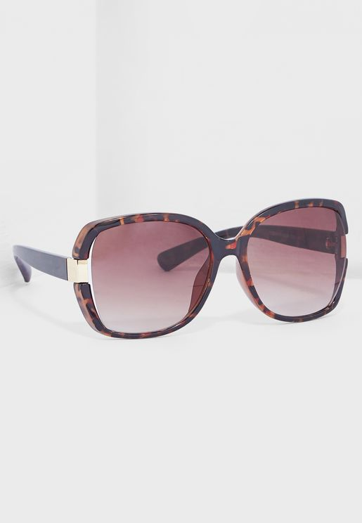 Tort Oversized Sunglasses