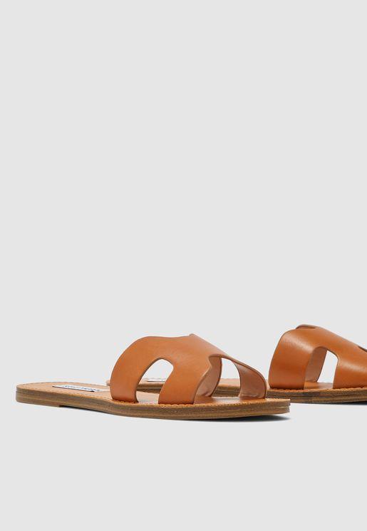 Lisa Flat Sandal - Brown