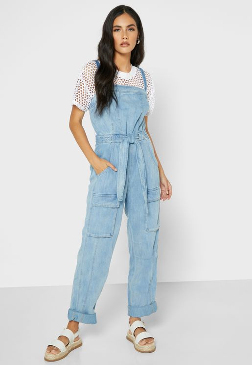 Go West Denim Jumpsuit