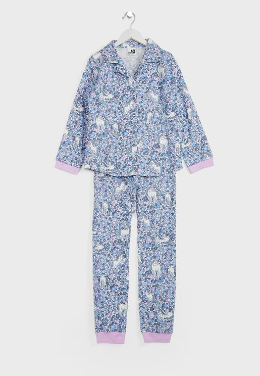 Kids Unicorn Garden Pyjama Set
