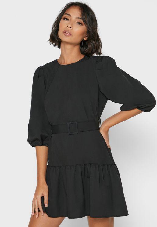 Belted Mini Dress
