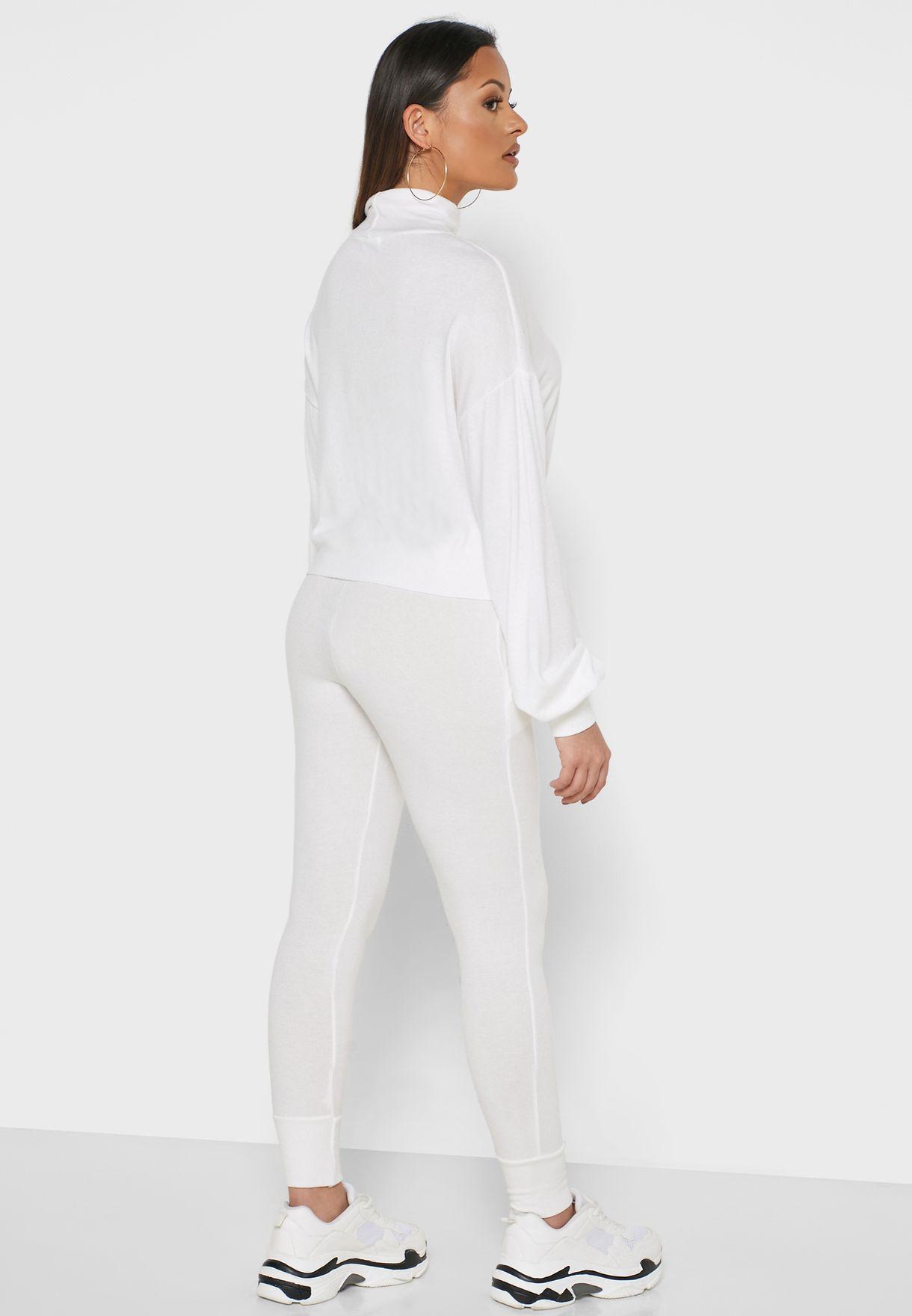 HIgh Neck Sweater Pants Set