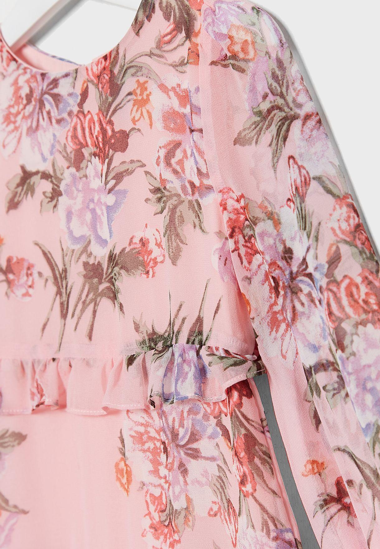 Little Floral Frill Dress