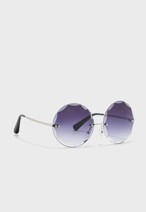 Rimless Lens Detail Sunglasses
