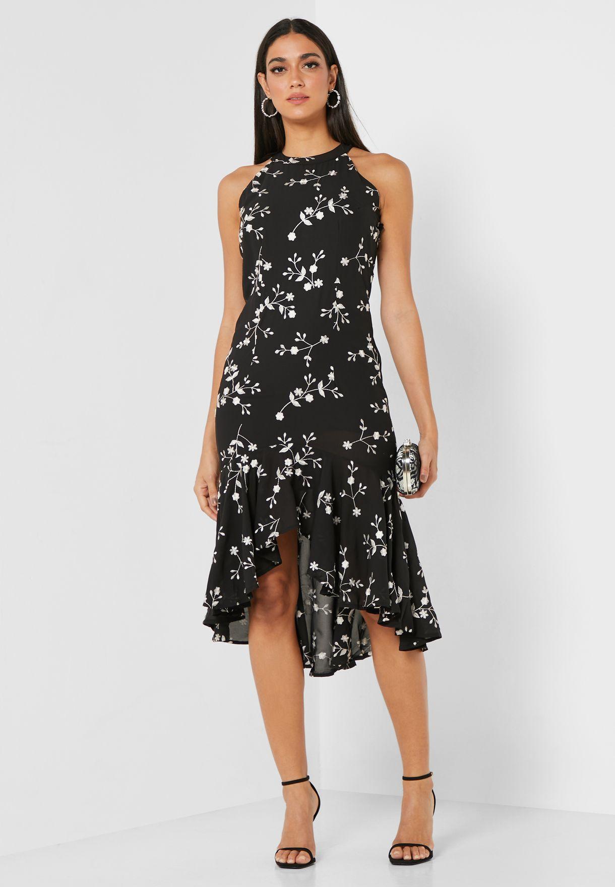 Classic Printed Midi Dress