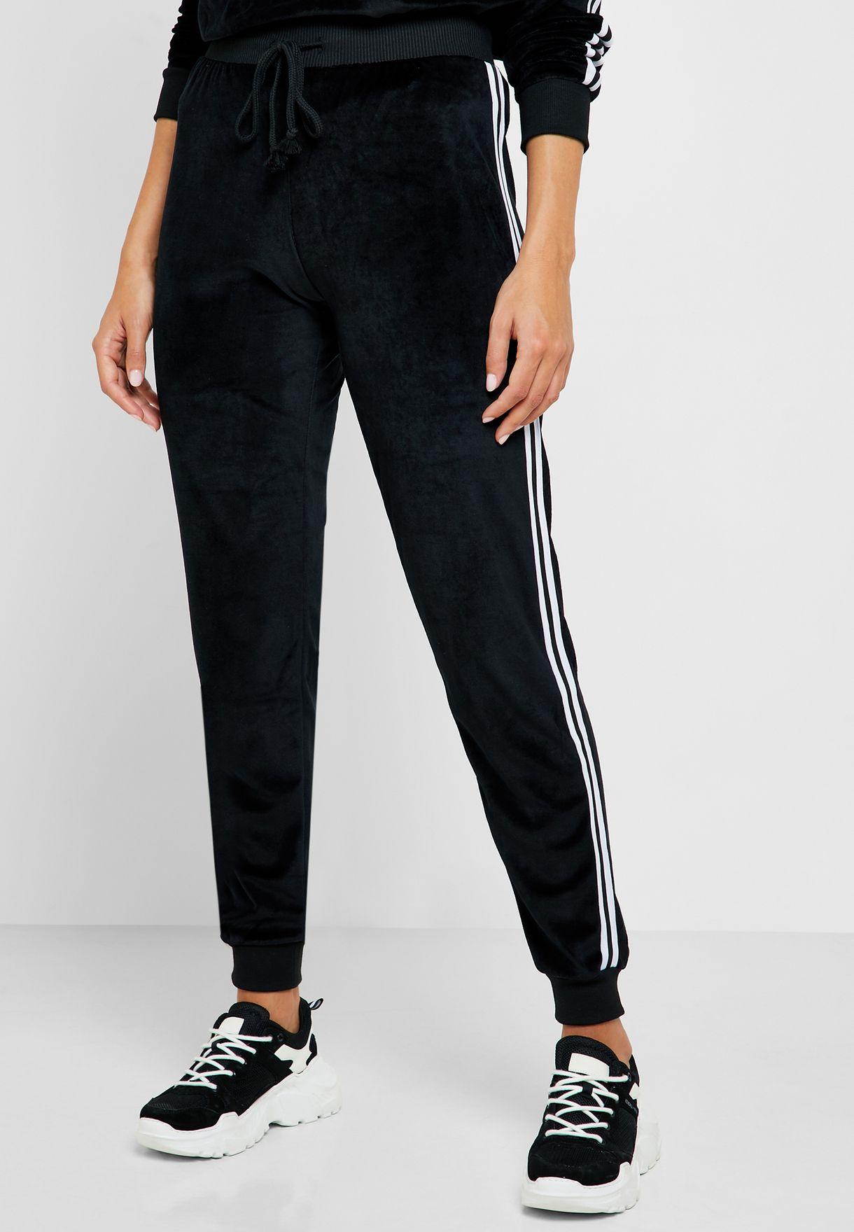 Contrast Side Paneled Jogger Pants Set