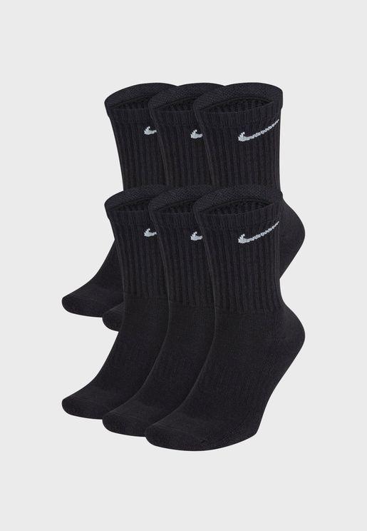 6 Pack Cushion Crew Socks