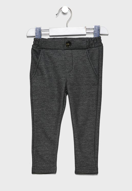 Kids Button Detail Sweatpants