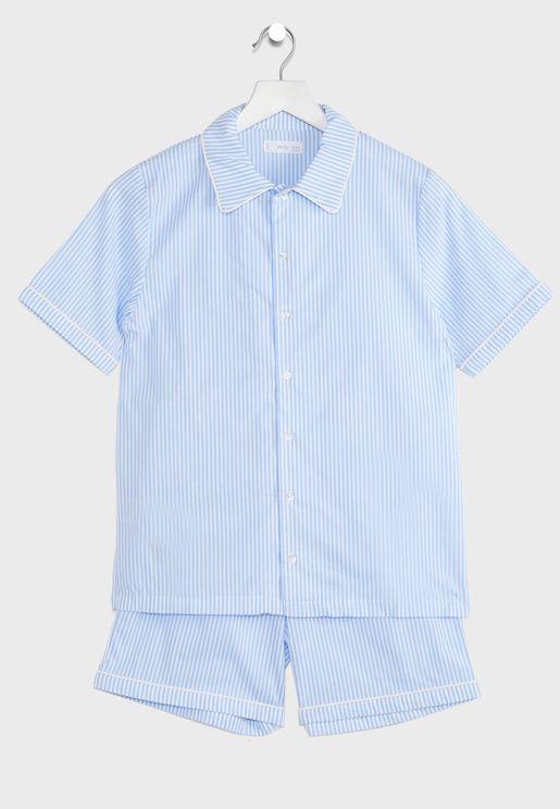 طقم (شورت + قميص مطبع)