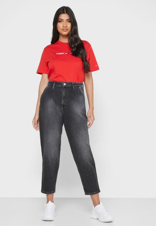 Retro Mid Wash Mom Jeans