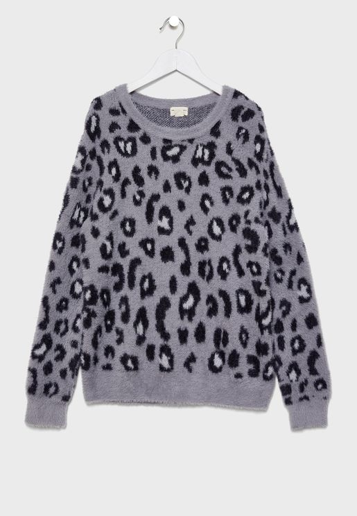 Kids Leopard Print Sweater