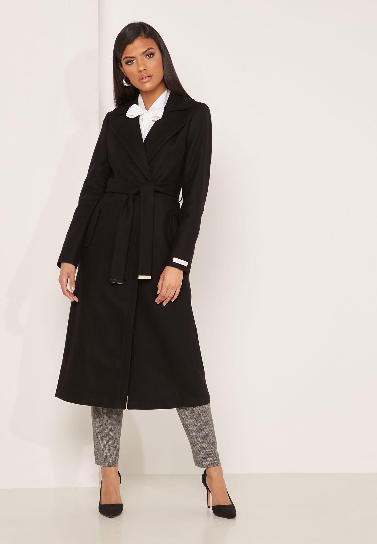 Gabella Longline Belted Coat