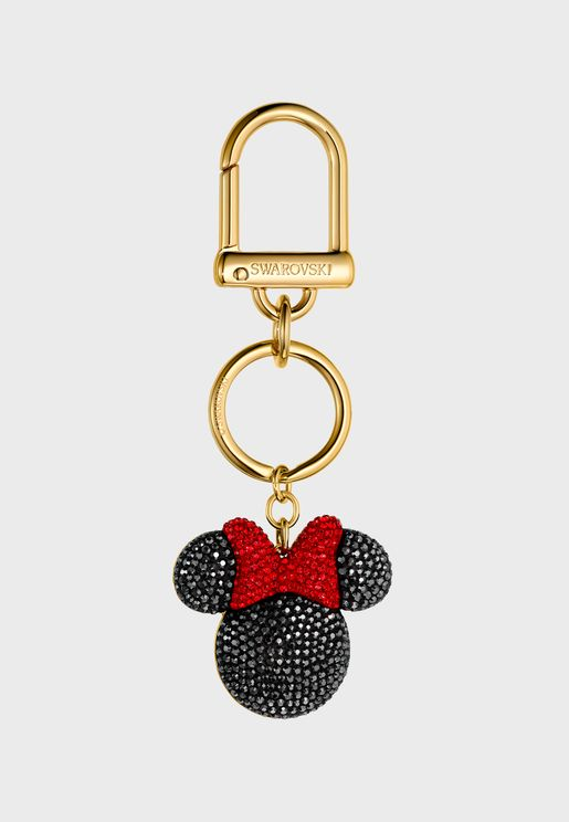 Minnie & Mickey Charm Key Ring