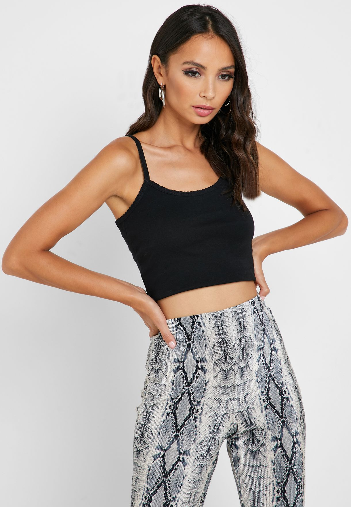 Scallop Cropped Top