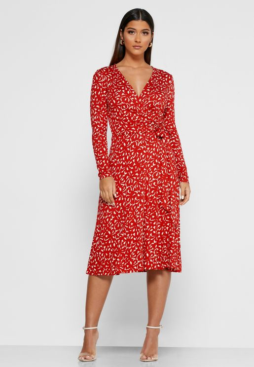 Dr Khloe Floral Print Pleated Dress