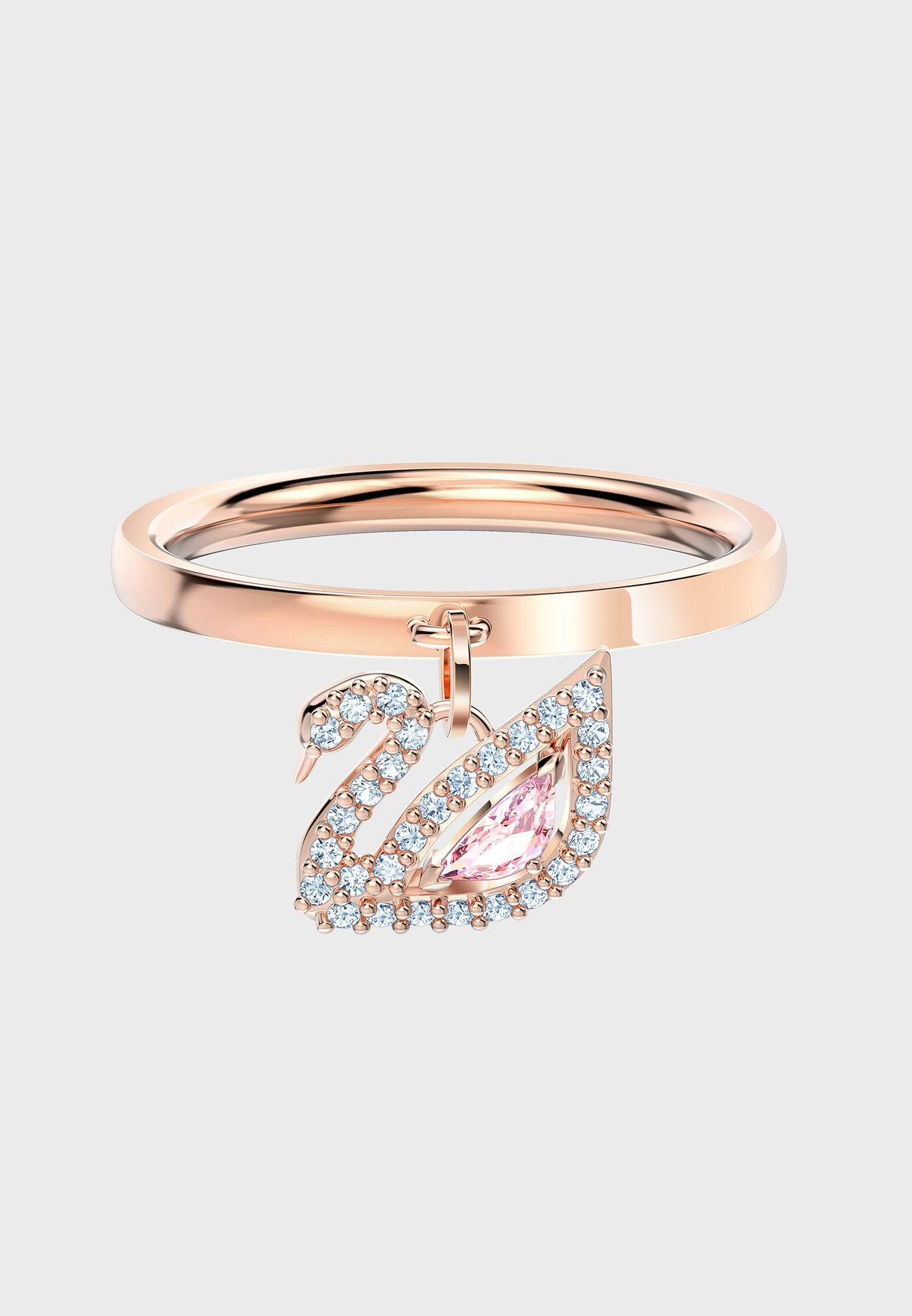 Dazzling Swan Ring