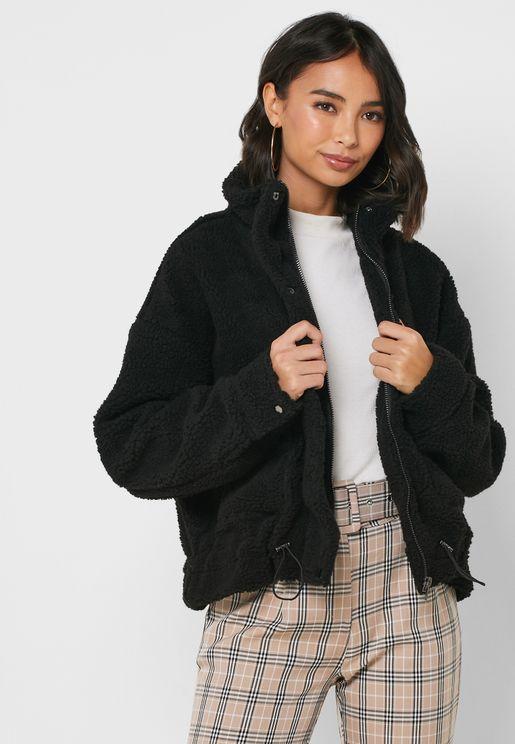 معطف بخصر مطاطي