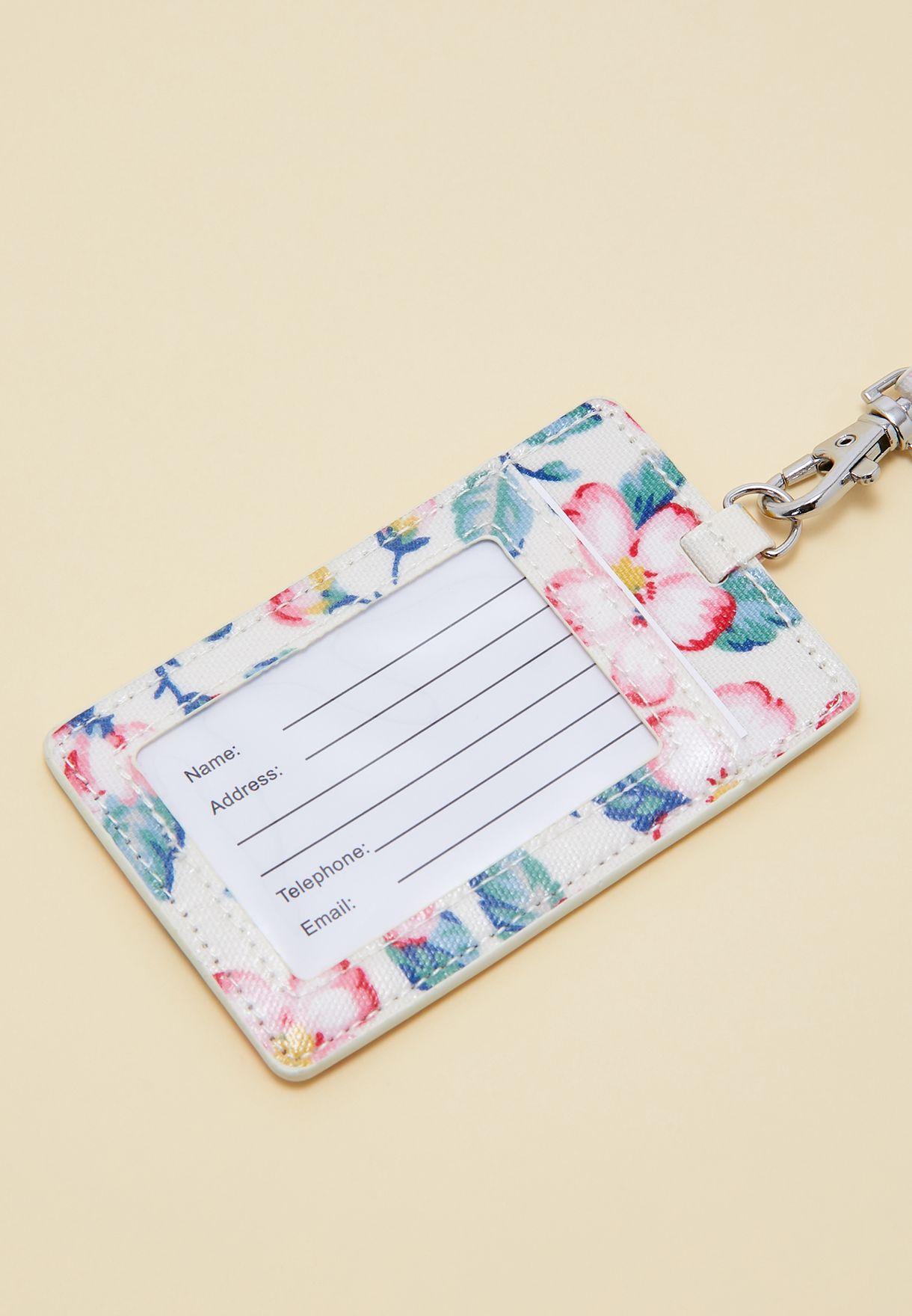 حافظة بطاقة شخصية مزينة بزهور
