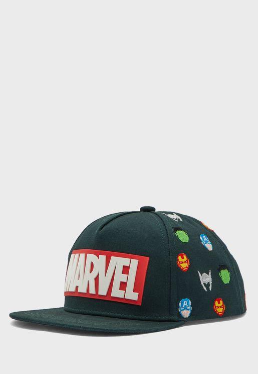 Kids Marvel Logo Cap