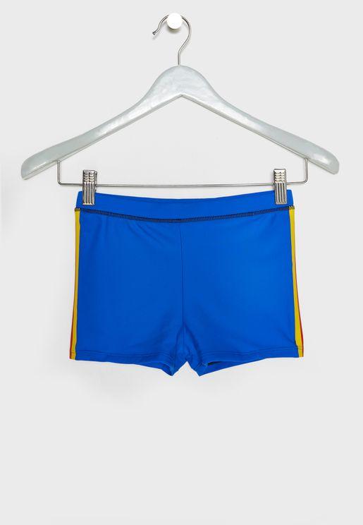 Kids Side Stripe Swim Shorts