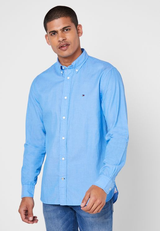Dobby Striped Slim Fit Shirt