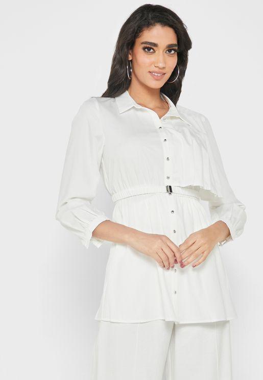 Belted Longline Shirt