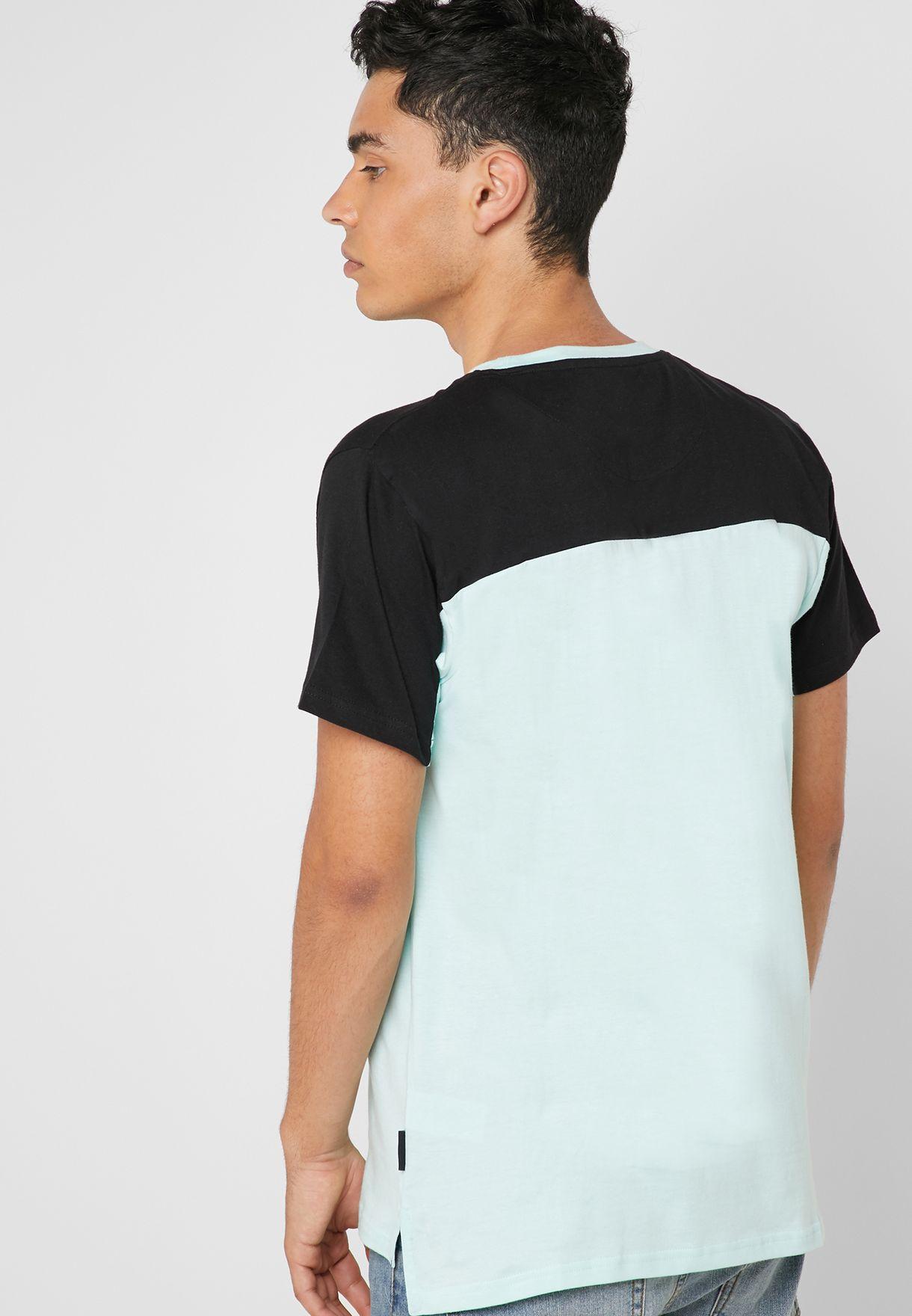 Monaho Color Block Crew Neck T-Shirt