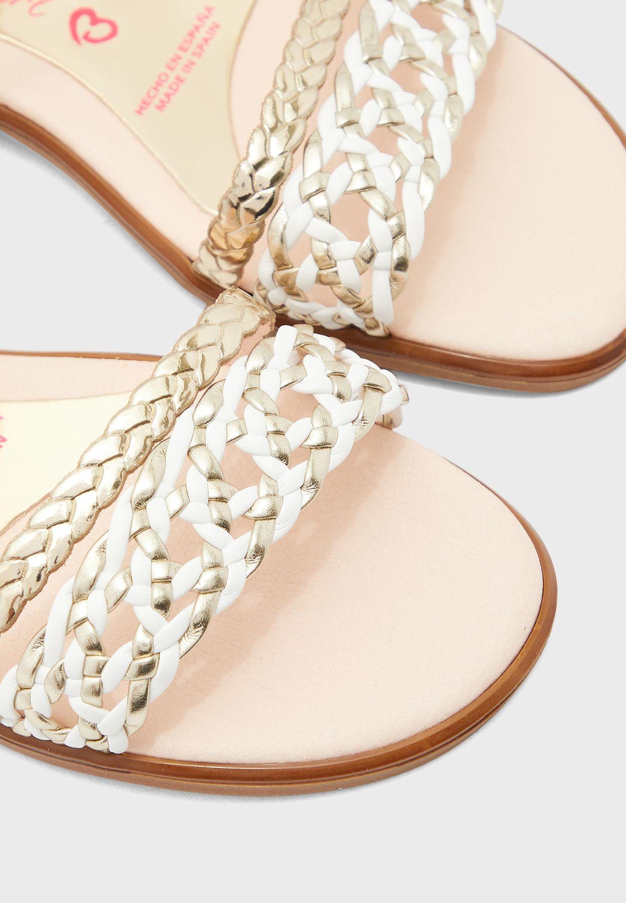 Youth Glitter Strap Sandal