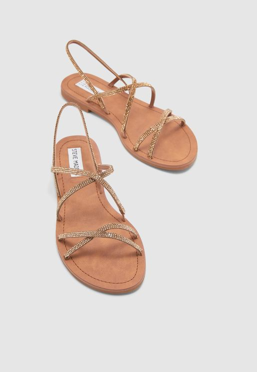 Rita Multi Cross Sandal - Bronze