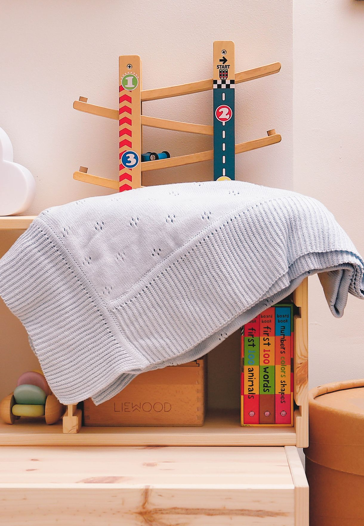 Baby Large Organic Cotton Knitted Blanket