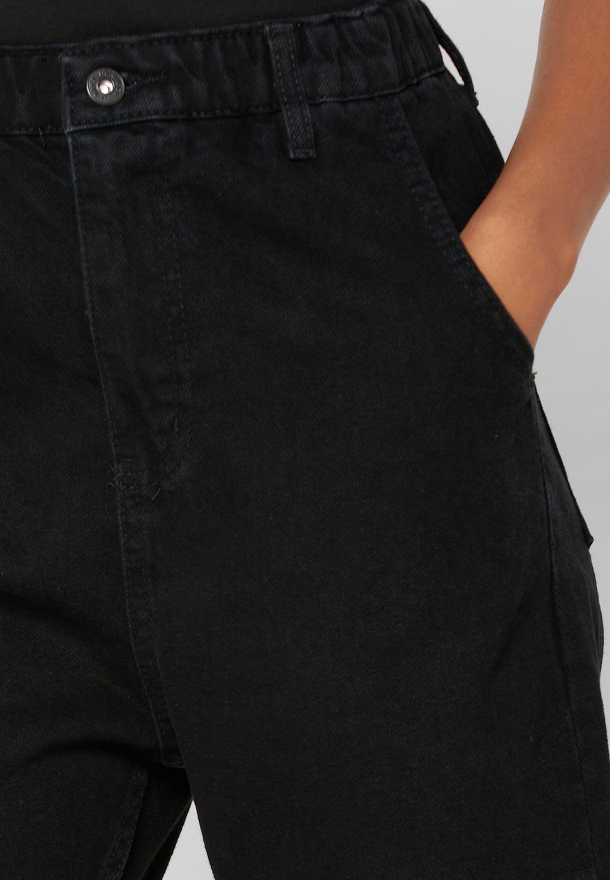 جينز بخصر مطاطي