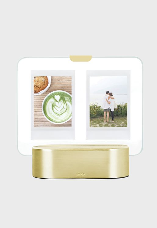 Glo Instant 5X8 Matte Brass Photo Frame