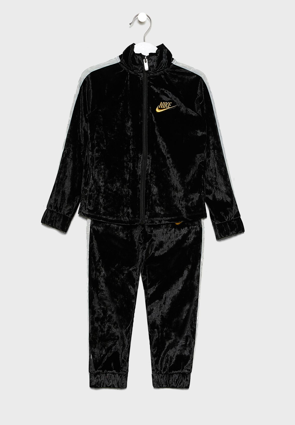 Kids Crushed Velour Tracksuit